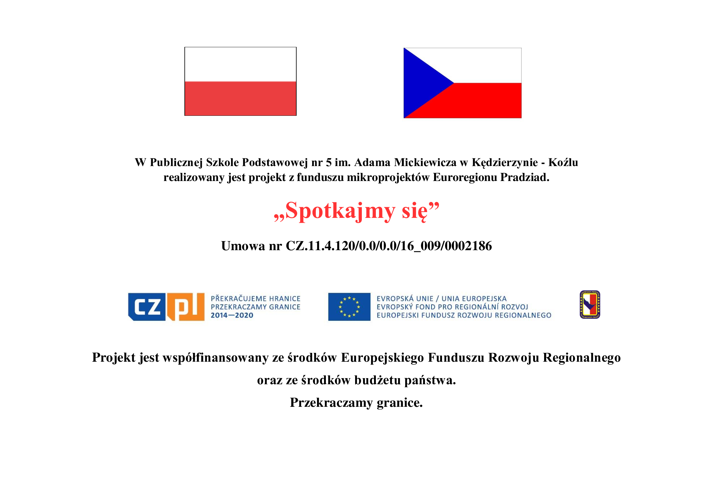 Polsko-czeski projekt pt: Spotkajmy się